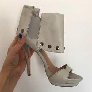 LAMB Grey Heels - 7.5 Used